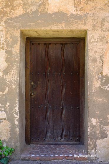 Heavy wooden door. Carmel Mission Carmel California USA. & Photo: Heavy wooden door. Carmel Mission Carmel California USA. pezcame.com