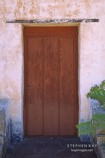 Door. Carmel Mission, San Carlos Borromeo de Carmelo, Carmel, California, USA.