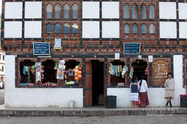 General shop in Paro, Bhutan.