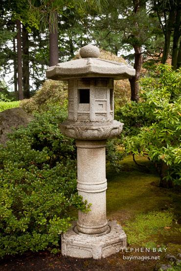 Photo Stone Lantern Portland Japanese Garden Oregon