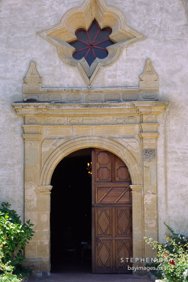 Doors to the Carmel Mission, San Carlos Borromeo de Carmelo, Carmel, California, USA.