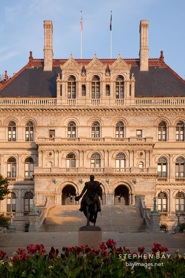 General Sheridan's statue in front of the Capitol. Albany, New York.