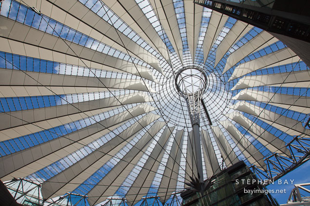 Sony Center roof. Berlin, Germany.