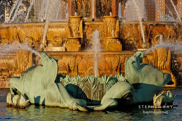 Seahorses. Buckingham Fountain, Chicago, Illinois, USA.