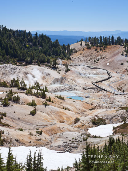 Bumpass Hell thermal basin. Lassen NP, California.