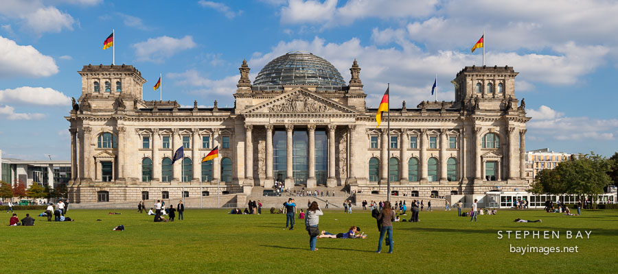 Panorama of the Reichstag. Berlin, Germany.