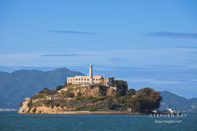 Alcatraz Island. San Francisco Bay, California.