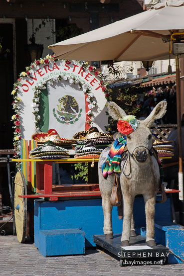 Donkey, El Pueblo, Los Angeles, California, USA.