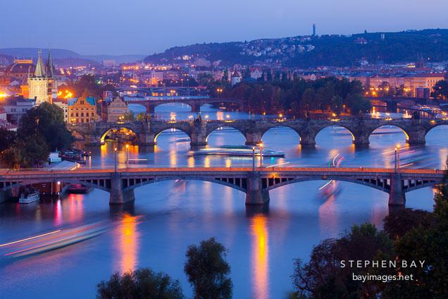 Prague bridges. Czech Republic.