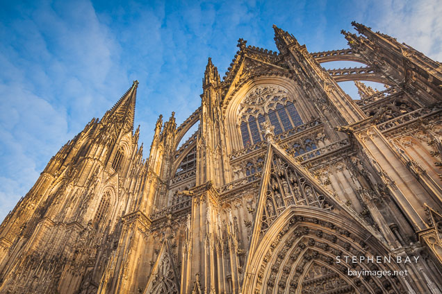 Cologne Cathedral from the south side.