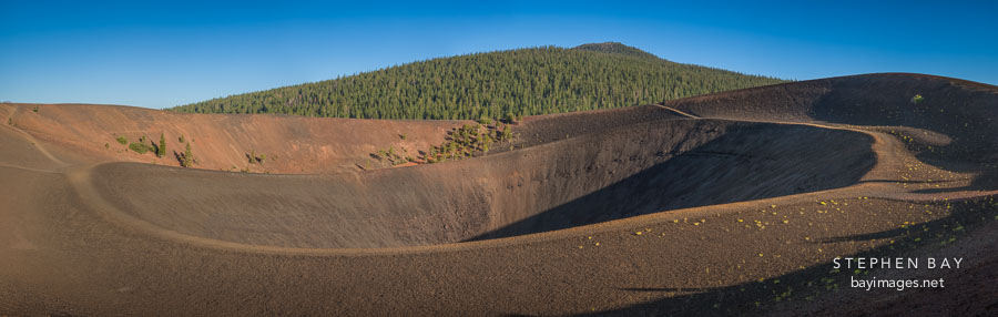 Panorama of Cinder Cone. Lassen NP, California.
