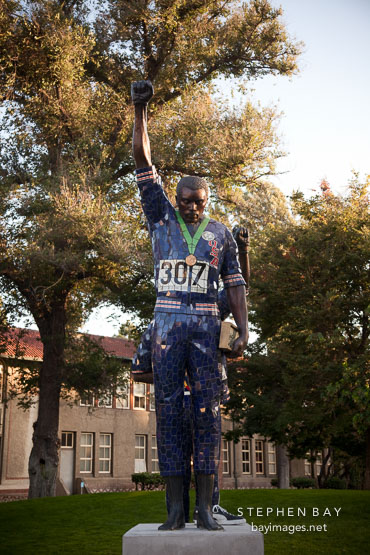 Statue of Tommie Smith at San Jose State University.