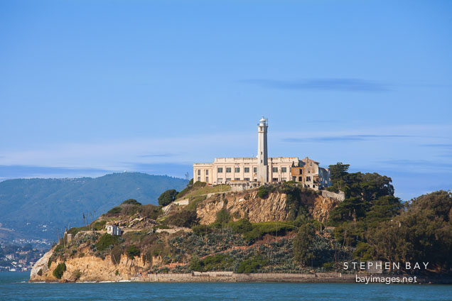 The Rock, Alcatraz Island. San Francisco Bay, California.