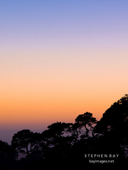 Colorful sunset sky at Point Reyes.