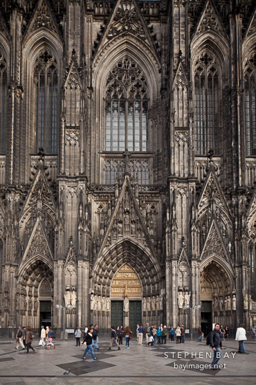 Koln Cathedral entrance. Cologne, Germany.