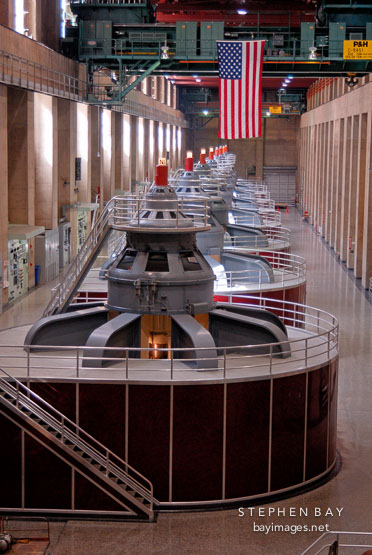 Electrical power plant generators. Hoover Dam, Nevada and Arizona, USA.