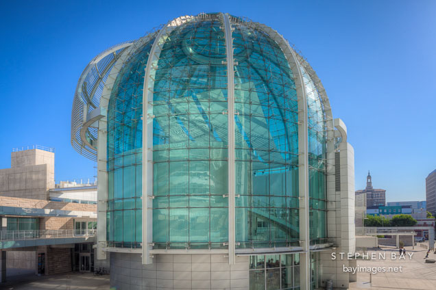 Glass dome at San Jose City Hall.