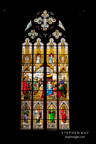 Stained glass window. Cologne Cathedral, Germany.