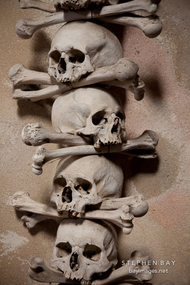 Skull and bones. Sedlec bone church.