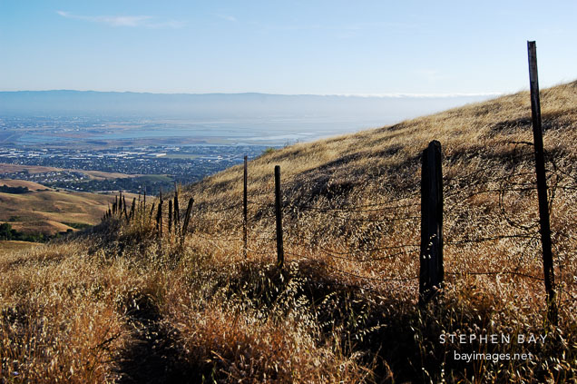 Fence. Mission Peak, Fremont, California, USA.