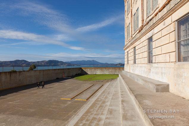 Recreation yard. Alcatraz, California.
