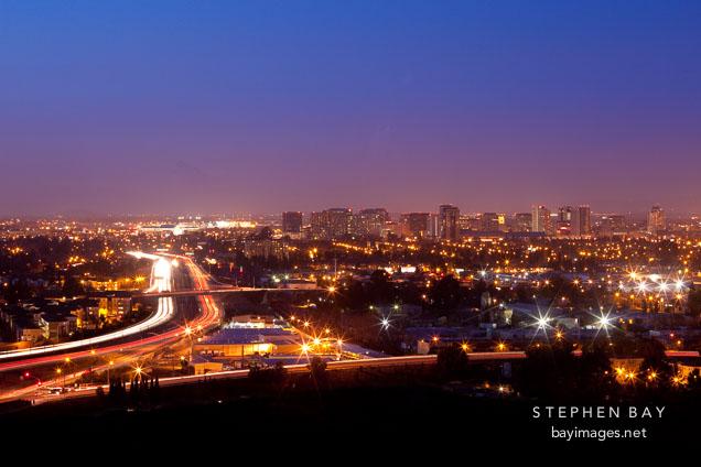San Jose skyline at night.