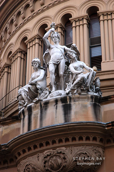 Sculptures on the Queen Victoria Building. Sydney, Australia
