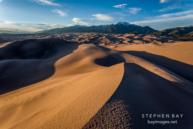 Dunes in the late afternoon. Great Sand Dunes NP, Colorado.