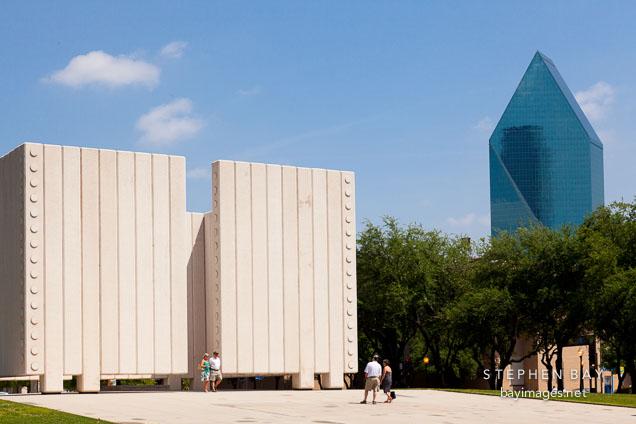 John F Kennedy Memorial Plaza. Dallas, Texas.
