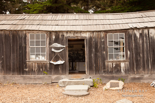 Whaler's cabin. Point Lobos, California.