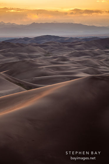 Endless dunes. Great Sand Dunes National Park, Colorado.
