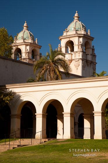 Towers of Casa del Prado. Balboa Park, San Diego.