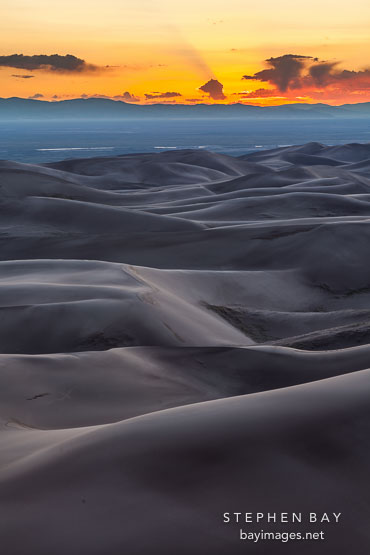 Rolling dunes. Great Sand Dunes NP, Colorado.