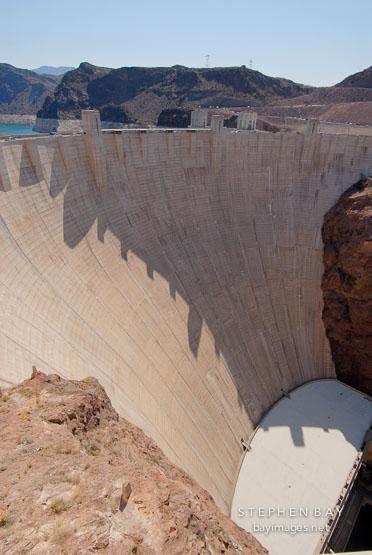 Hoover Dam viewed from the Nevada side. Nevada and Arizona, USA.