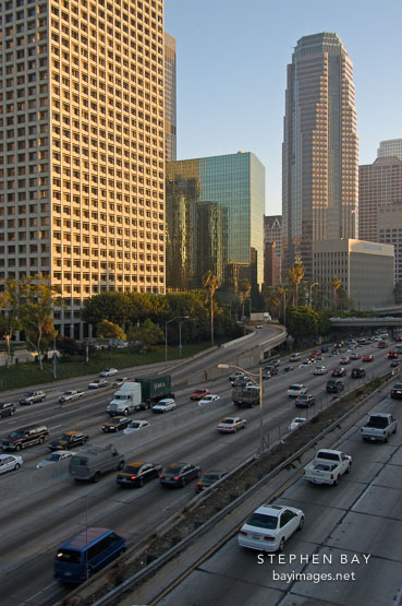 Harbor Freeway (110). Los Angeles, California, USA.