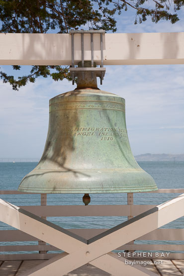 Angel Island US Immigration Station bell.