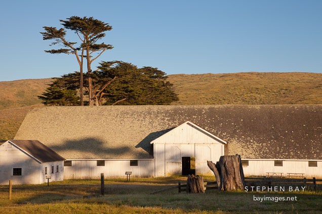 Hay barn at Pierce Ranch. Point Reyes, California.