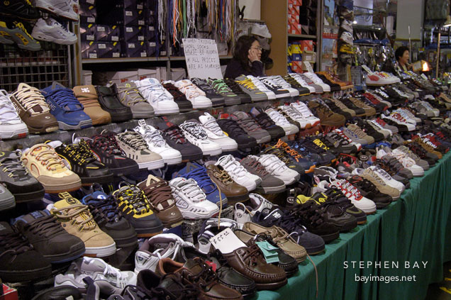 Shoes for sale. Paddy's market. Sydney, Australia.