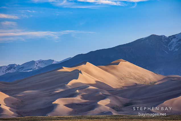 View arriving at Great Sand Dunes NP, Colorado.