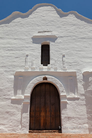 Front door of Mission San Diego.