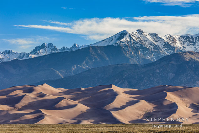 Dunes in front of the Sangre de Cristo Mountains.