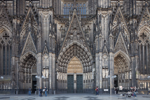 West entrance to the Cologne Cathedral. Cologne, Germany.