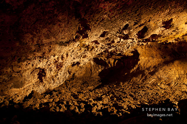 Narrow passage in Mushpot Cave. Lava Beds National Monument. California.