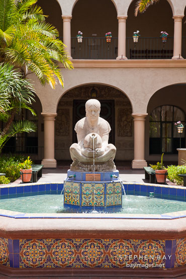 Aztec woman of Tehuantepec. House of Hospitality, Balboa Park, San Diego.