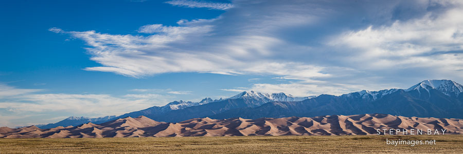 Panorama of Great Sand Dunes NP.