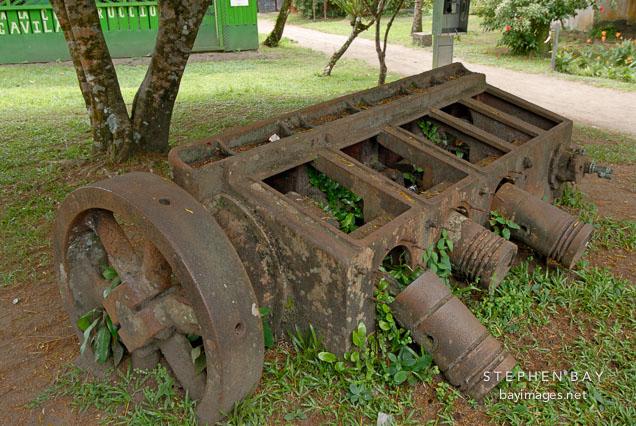Abandoned machinery. Tortuguero Village, Costa Rica.