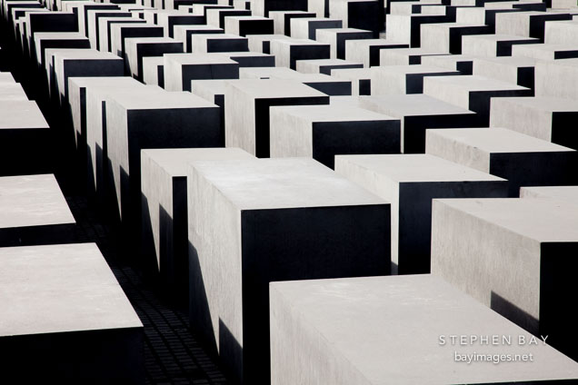 Memorial to the Murdered Jews of Europe. Berlin, Germany.