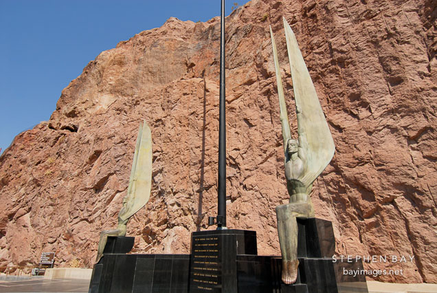 Winged figures of the Republic by Oskar Hansen. Hoover Dam, Nevada and Arizona, USA.
