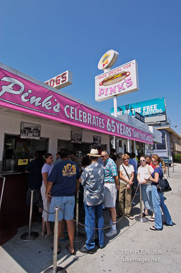 Pink S Famous Hot Dog Restaurant Los Angeles California Usa