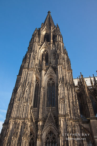Cathedral spire. Cologne, Germany.